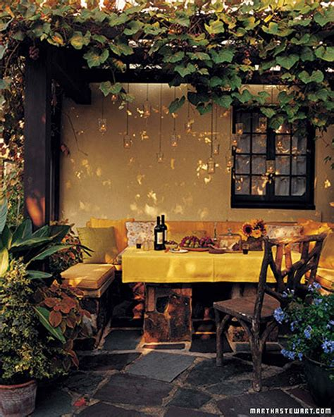 outdoor dining room ideas comfortable outdoor dining area with yellow color dweef
