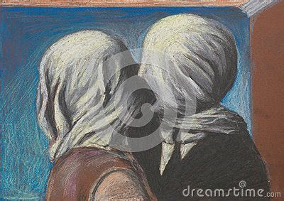 lovers kiss pastel drawing reproduction royalty