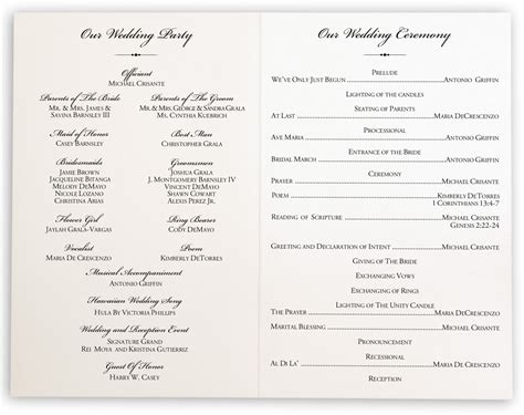 Wedding Program by Wedding Programs Www Pixshark Images Galleries