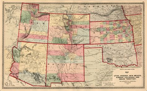 new mexico and colorado map map of utah arizona new mexico kansas colorado and