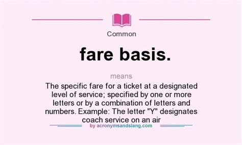 Definition Of Service Letter What Does Fare Basis Definition Of Fare Basis Fare Basis Stands For The Specific