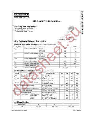 bc547 transistor fairchild bc547 даташит fairchild semiconductor бесплатно скачать в pdf datasheet bc547 техническое