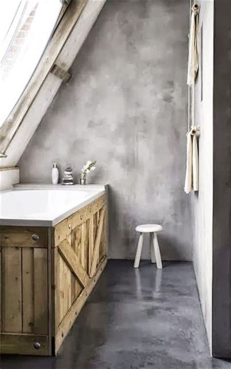 wooden cladding for bathrooms concrete bathroom with old wood clad tub interior design