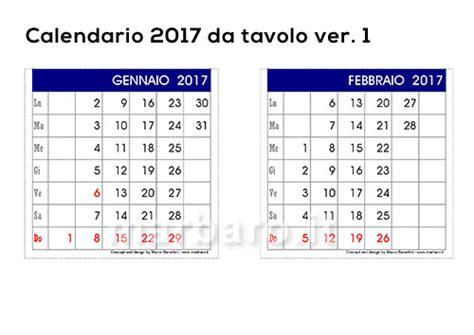 calendario da tavolo gratis 5 calendari 2017 da tavolo o scrivania per la casa e l ufficio