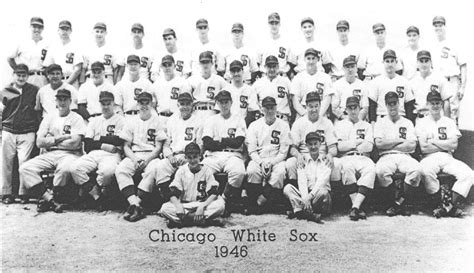 thedeadballera 1946 chicago white sox team photo