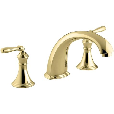 kohler bathtub faucets shop kohler devonshire vibrant polished brass 2 handle