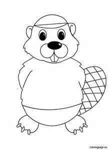 Beaver Template by Beaver Coloring Page