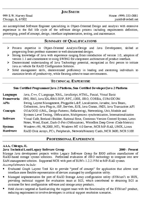 software developer resume template resumes sample for a software