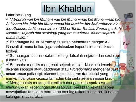 Ibn Khaldun Dalam Pandangan Barat Dan Timur pendidikan falsafah islam dan timur