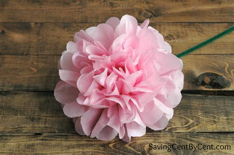 Easy Flower With Tissue Paper - how to make easy tissue paper flowers saving cent by cent