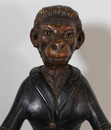 century black forest carved monkey sculpture  sale  stdibs