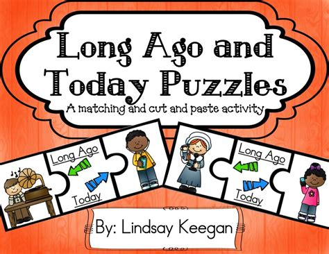 Long Ago And Today Puzzles Elementary School Resources