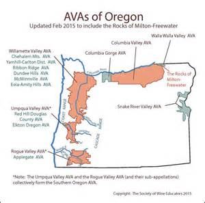 oregon wine map updated 2015