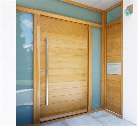 Contemporary Wood Doors Exterior Urbanfront Parma Contemporary Front Doors