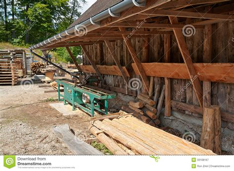 small sawmill lumber mill royalty free stock photography