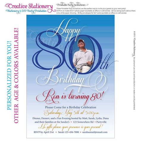 80th birthday invitation templates free 25 best ideas about 80th birthday invitations on