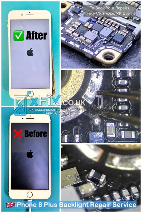 fix apple iphone  backlightblack shadow fuse filter repair xfix