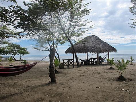 Tiki Hut On Beach San Juan Del Sur Nicaragua Burgess Adventures