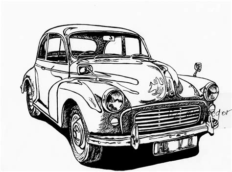 vintage cars drawings classic car line drawing www pixshark com images