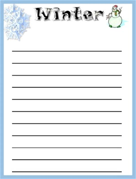 winter writing paper winter writing paper printable new calendar template site