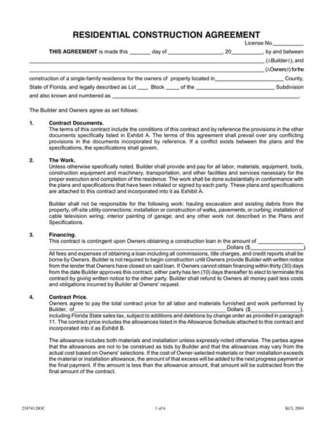 Image Result For Residential Construction Contract Agreements How To Pinterest Residential Design Build Contract Template