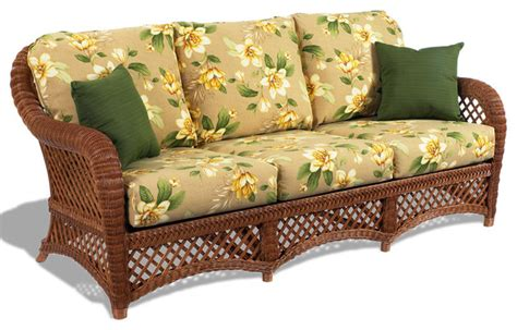 tropical couch lanai brown wicker sofa tropical furniture by wicker