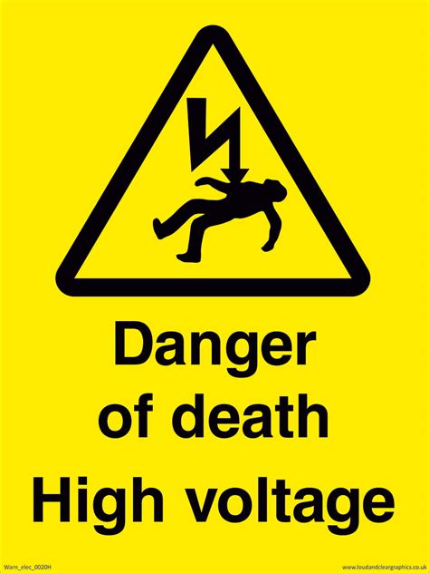 high voltage construction standards danger of high voltage sign electrical warning sign