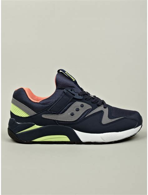 saucony sneakers mens saucony mens navy grid sneakers in blue for navy lyst
