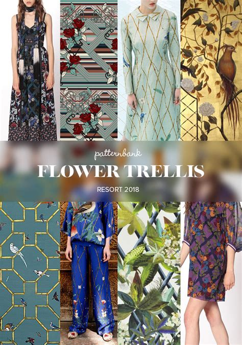 patternbank trends 2018 flower trellis print pattern trends resort 2018 catwalk