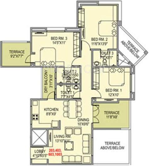 terrace towers floor plans paranjape vasant vihar towers in baner pune price location map floor plan reviews