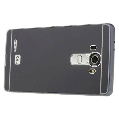 Aluminium Bumper With Mirror Back Cover For Lg G4 Hitam aluminium bumper with mirror back cover for lg g4 black jakartanotebook
