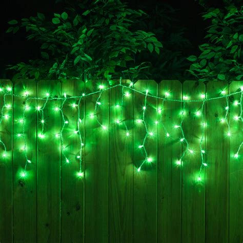 green wire icicle lights icicle light 100 green icicle lights white