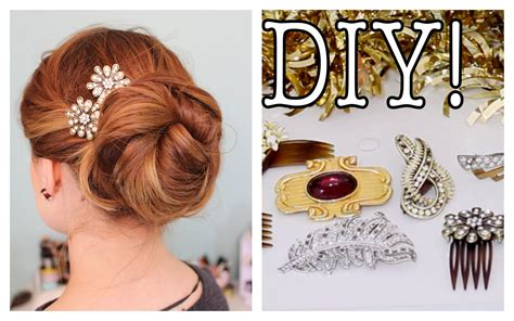 easy diy sparkly statement hair accessories