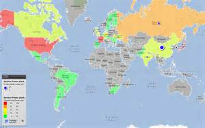 nuclear plants in map world map of nuclear power plants worldwide by country