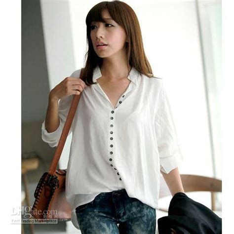 New Blouse Spandek Ceruty Korea 2018 2013 new blouse korean solid color sleeved blouses casual tops from