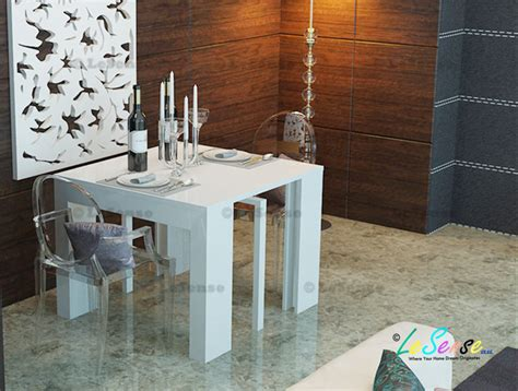 White Gloss Meeting Table New High Gloss White Console Table Extendable To Dining Table Meeting Table1 85m Ebay