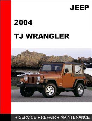 service and repair manuals 2004 jeep wrangler engine control jeep manual best repair manual download
