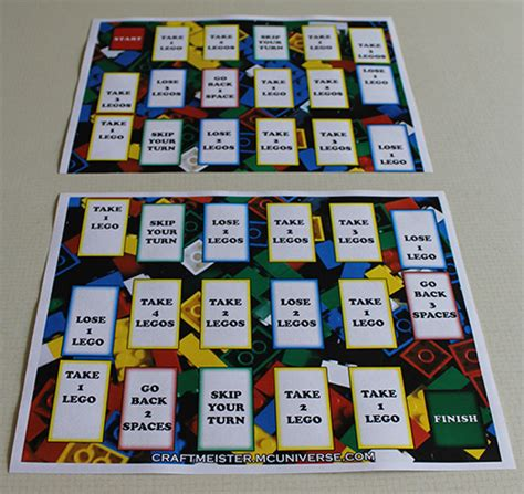 printable lego board games homemade lego game board big version printed on 2 sheets