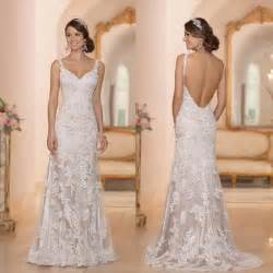 buy wedding dress wholesale a line wedding dresses buy 2015 backless open back wedding gowns ivory white