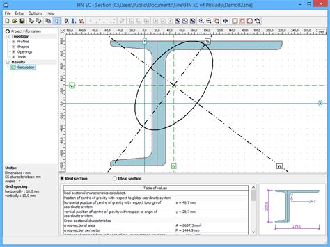 cross section steel section structural software fin ec fine