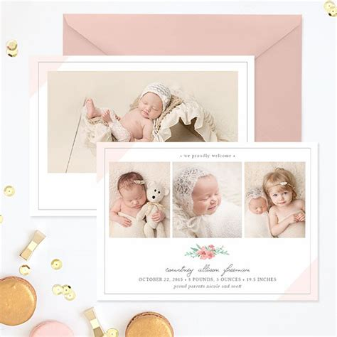 Baby Card Template Photoshop by 71 Best Images About Birth Announcement Templates Family