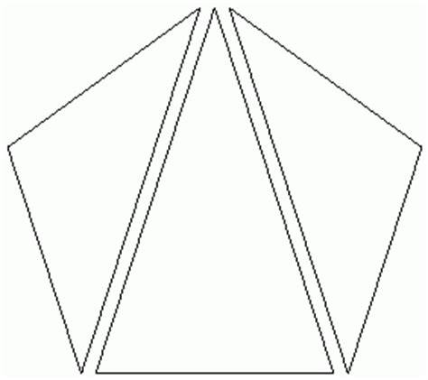 how many four sided figures appear in the diagram below pentagon triangles