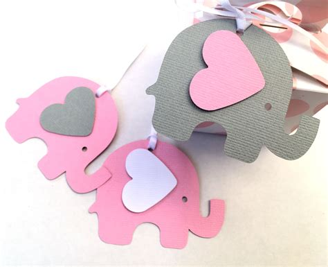 Elephant Baby Shower Gifts by Pink Gray Elephant Baby Shower Gift Tags For Gifts