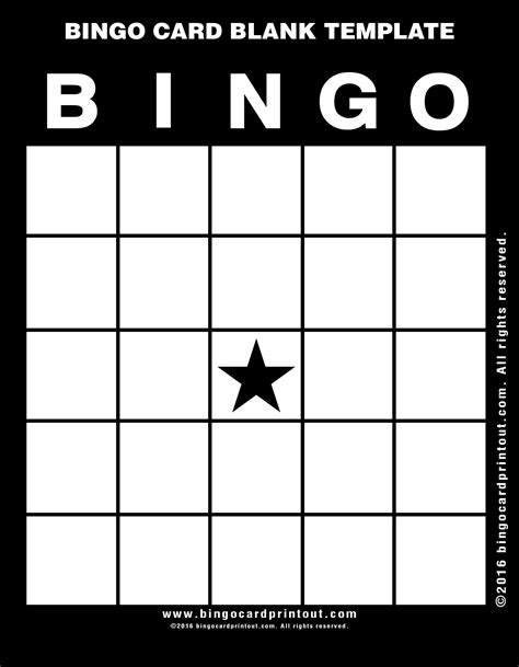 bingo cards template bingo card blank template bingocardprintout