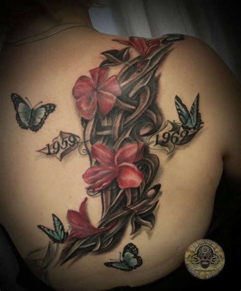 tattoo flower and butterfly designs 111 artistic and striking flower tattoos designs