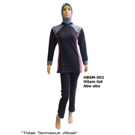 Baju Senam Dewasa baju senam muslimah hbsm 001 3 warna distributor dan toko jual baju renang celana alat