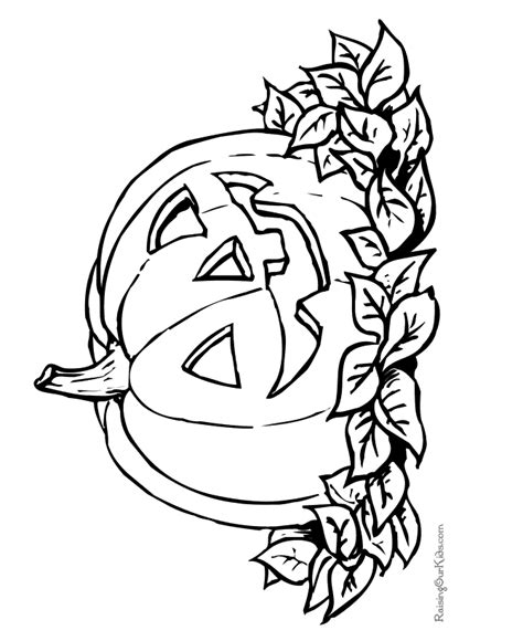 pumpkin halloween coloring pages 005