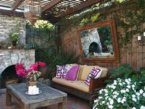 Summer Backyard Ideas Rustic Summer Backyard Ideas Which Is Equipped With Gorgeous Sofa And Wooden Coffee Table That
