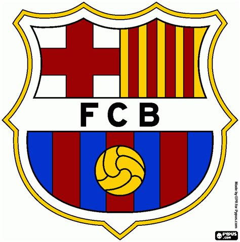 fc barcelona colors free coloring pages of barcelona