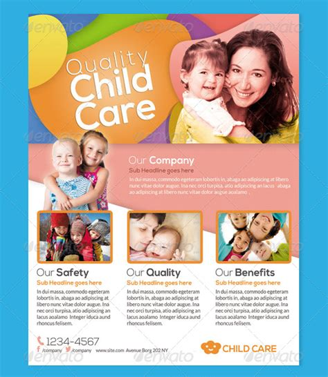 Daycare Flyers Printables 28 Daycare Flyers Psd Vector Eps Jpg